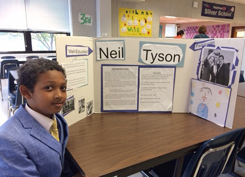 student as Neil degrasse Tyson