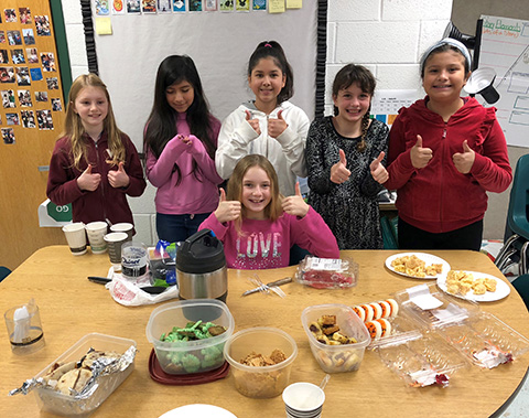 students with food memoirs