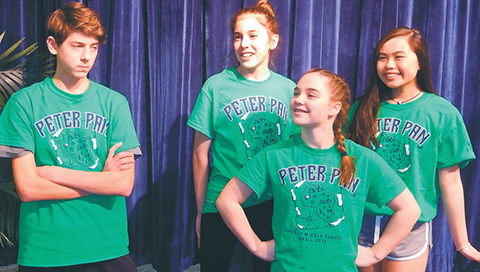 students in Peter Pan shirts