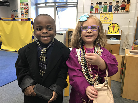 students dressing for success