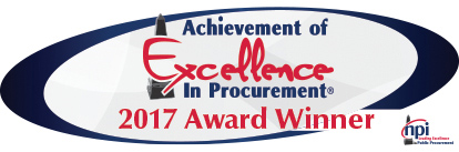 Achievement of Excellence in Procurement® (AEP) for 2017 from the National Procurement Institute, Inc. (NPI).