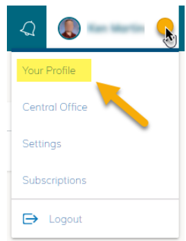 screenshot from schoology of how to find your profile
