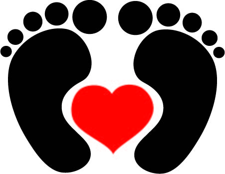 heart in a foot graphic