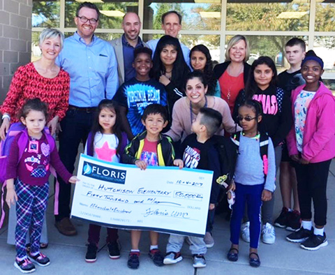 students and staff receive $50,000 check