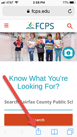 home page of www.fcps.edu