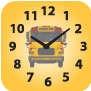 Bus with clock image