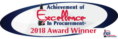 Achievement of Excellence in Procurement® (AEP) for 2018 from the National Procurement Institute, Inc. (NPI).