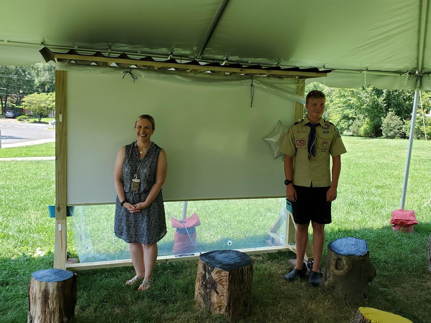 Logan Pembleton after completing his Eagle Scout project.