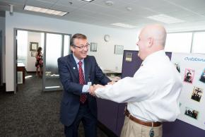 Dr. Scott Brabrand's first day as superintendent of FCPS.
