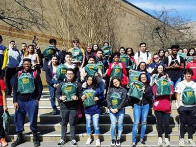 Annandale High students participated in a discover NOVA field trip with special tours of the campus, lunch, backpacks, and information about college programs.