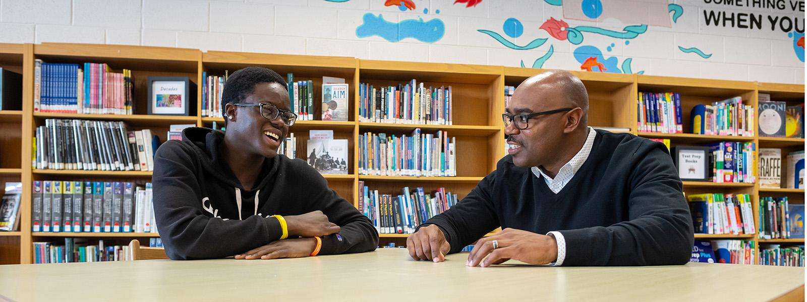 Mentors make a positive impact on the lives of students, like this Hayfield Secondary School student; thank a mentor during January, National Mentoring Month.