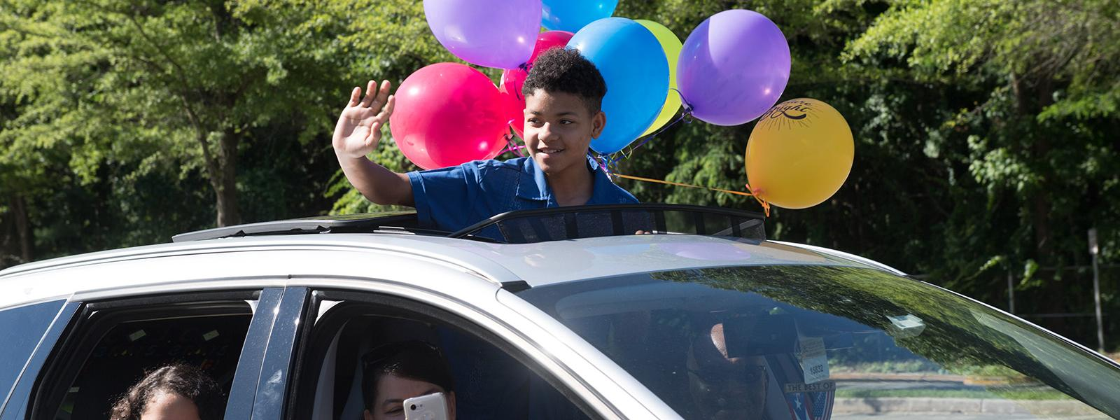 Willow Springs Elementary School students had an opportunity to say goodbye to their teachers during a drive-through parade at the end of the school year.