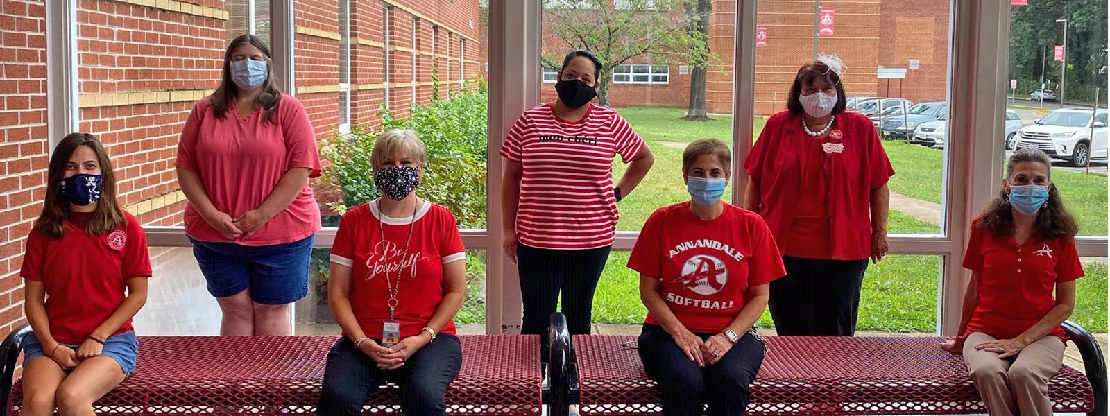 The administrative staff at Annandale High School is ready for the new school year.